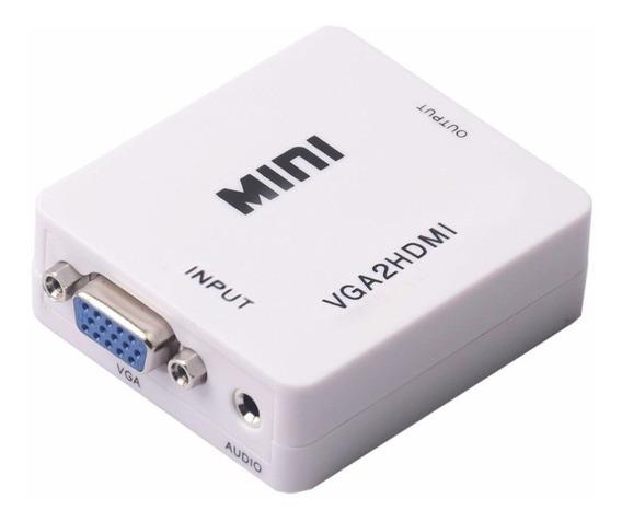 Conversor Vga A Hdmi Adaptador Analogico A Digital Convertidor Ver La Pc En La Tv Lcd Vga2hdmi Audio Y Video - Lanús