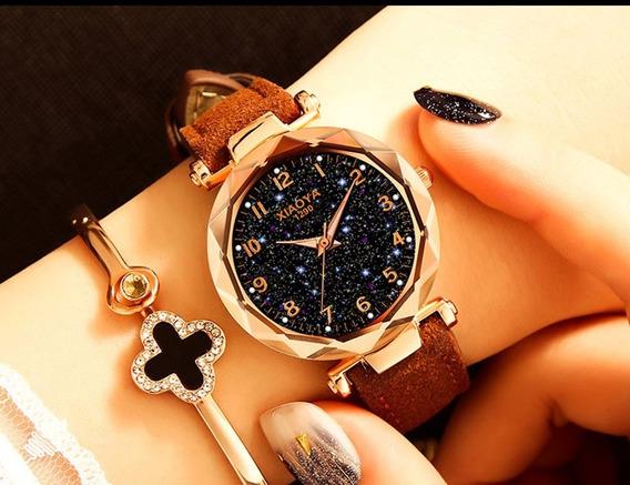 Relógio Das Mulheres De Luxo Em Ouro Rosa Relógios De Pulso