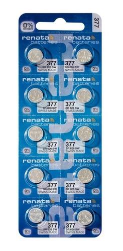 Batería Pila Reloj Renata 377 Sr626 1.55v Pack X 10