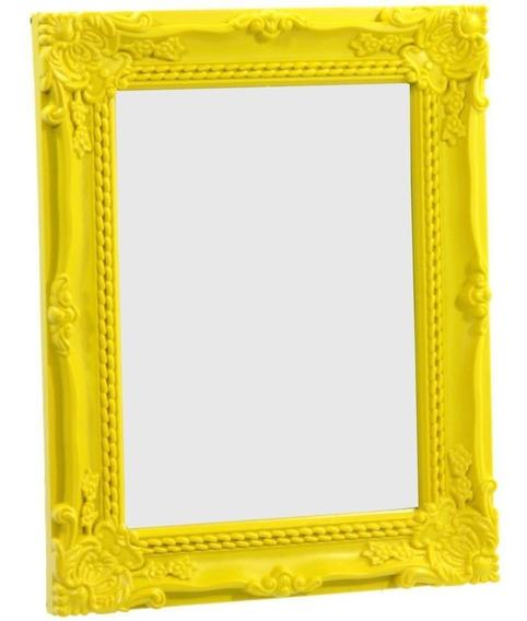 Espelho Com Moldura De Mesa Retrô Vintage Colorido Antique