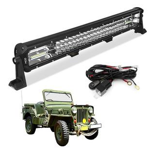 Farol De Milha Barra Led 324w 7d Offroad 4x4 Luz Jeep Willys
