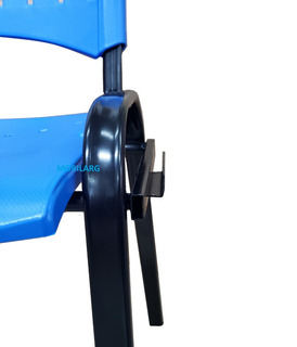 Silla Apilable Fija Plástica Con Uniones Para Transformar En Tandem C/garantia Fabrica + Cuotas