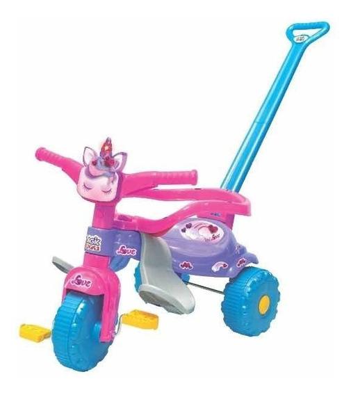 Triciclo Infantil Tico Tico Unicórnio Com Luz 2570