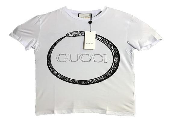 Playera Gucci Logo Serpiente Blanca Envio Gratis