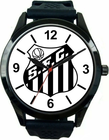 Relógio Pulso Esportivo Barato Futebol Torcedor Santista