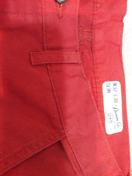 Pantalon Niño U Hombre Talle 32 Rojo Nuevo