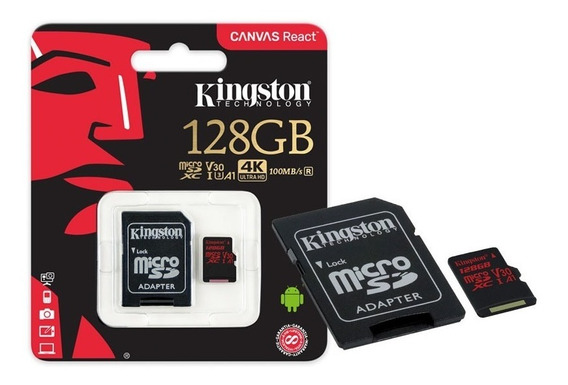Cartao De Memoria Classe 10 Kingston Sdcr/128gb Micro Sdxc