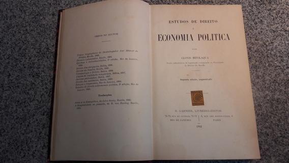 Livro Direito Economia Política Clóvis Bevilaqua 1902 Raro