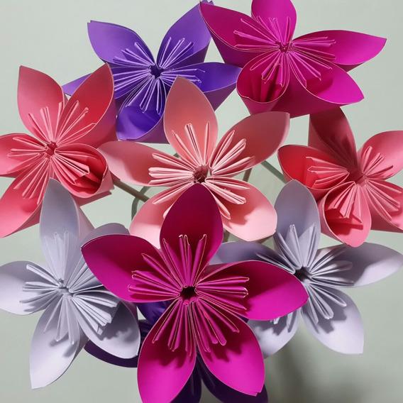 Flores De Papel Para Decoracion, Toppers, Souvenir