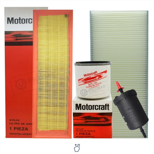 Imagen 1 de 9 de Kit 4 Filtros Completo Ford Ka Rocam 1.0 1.6 08/13 Original