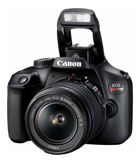 Câmera Profissional Dslr Canon T100 Eos Rebel 18mpx 18-55mm
