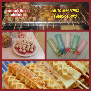 Palitos Para Algodão Creppe Pirulito S/ponta 25cnt Kit C/500