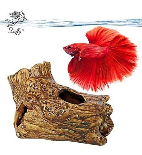 Sungrow Betta Fish Log, 4.9x3.3x2.8 Pulgadas De Decoracion D