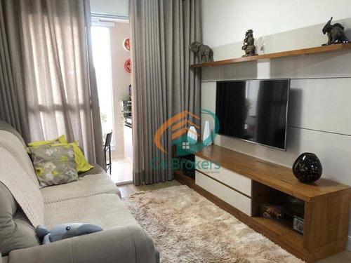 Apartamento Com 3 Dormitórios À Venda, 77 M² Por R$ 500.000,00 - Jardim Flor Da Montanha - Guarulhos/sp - Ap2407