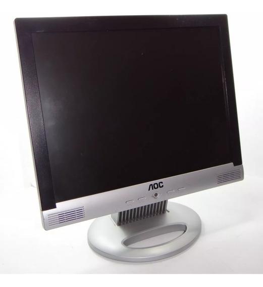Monitor Lcd De 15.0 Polegadas Aoc Lm522 Com Base Preto Prata