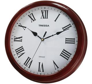 Reloj De Pared Tressa Marco De Madera Silent Joyeria Esponda