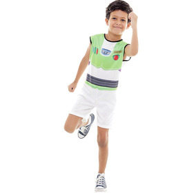 Fantasia Do Toy Story Infantil Buzz Clássico Curto + Brinde