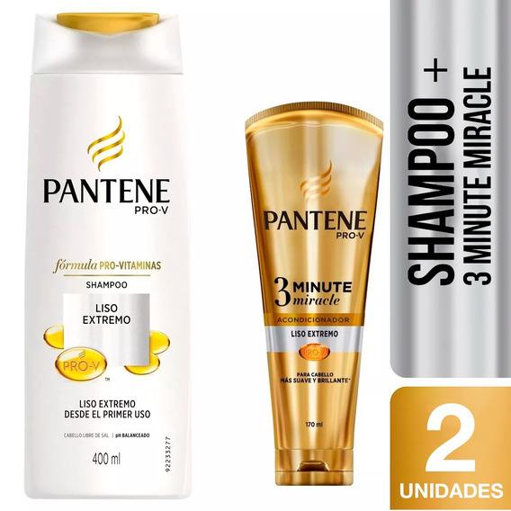 Shampoo Pantene Liso Extremo 400 Ml + Acondicionador 3mm