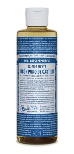 Jabon Menta Organico Puro De Castilla Dr Bronners - Fralugio