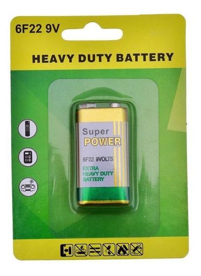 Bateria 9v 6f22 Blister Longa Duração 20 Unid Super Power Mf