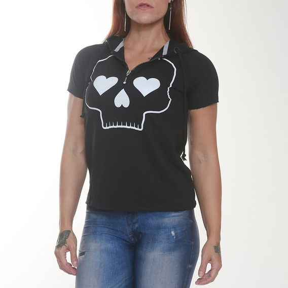 Camiseta Feminina - Black Skull Clothing