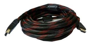 Cable Hdmi A Hdmi De 10 Metros Uhd Con Filtro 1080p 4k Dvd Bluray Decodificador - Lanus