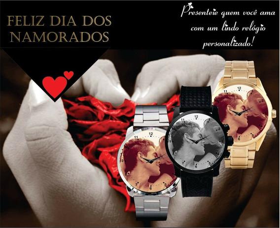 Relógio De Pulso Personalizado Masculino Dia Dos Namorados