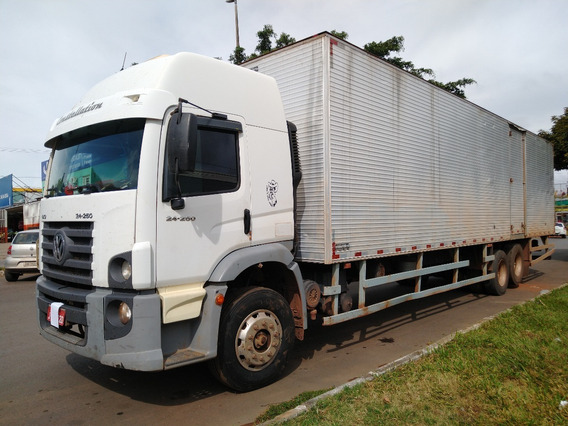 Vw 24250/11 Branco Truck Com Bau De 11m