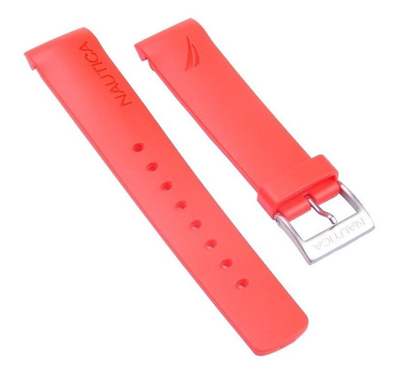 Pulseira Relógio Náutica 22mm Vermelha