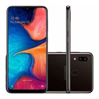 Samsung A20 Negro Libre + Funda + Templado Full Cover