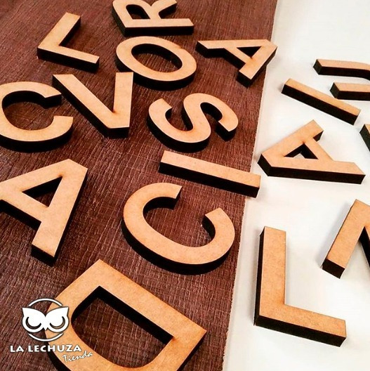 Letras Fibrofacil Mdf 10cm X 10 Unidades