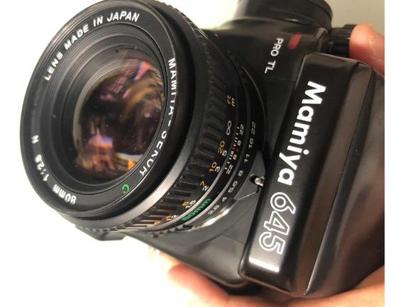 Mamiya 645 Pro Tl Com Lentes 55mm 2.8, 80mm 2.8 E 150mm 3.5