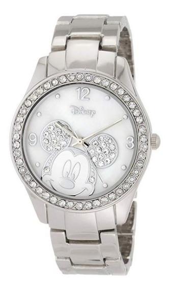 Reloj Plata Mickey Mouse De Disney