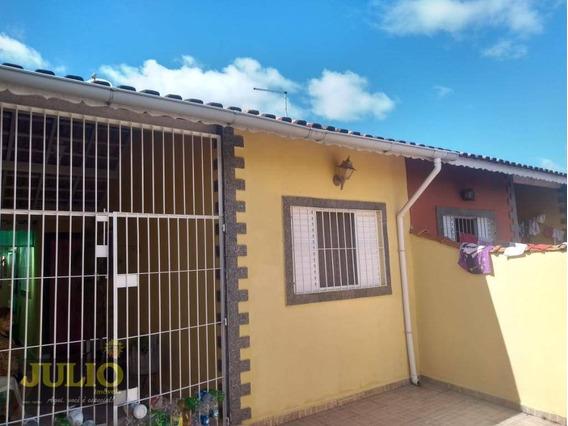 Linda Casa Com Com 2 Dormitórios À Venda, 80 M² Por R$ 190.000 - Verde Mar - Mongaguá/sp - Ca3494