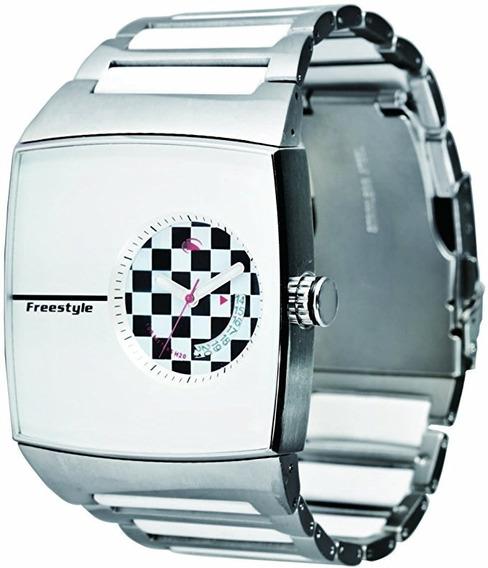 Relógio Fs81278 Analógico Karlton White/check Freestyle