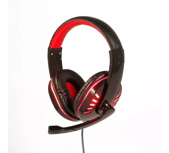 Fone Gamer Hf-g310-p4 Exbom Preto Com Vermelho