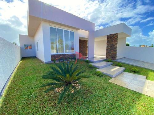 Casa Com 3 Dormitórios À Venda, 115 M² Por R$ 490.000,00 - Bela Torres - Passo De Torres/sc - Ca0684