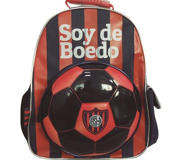 Mochila Futbol San Lorenzo 16 Pulgadas Cuervo Premium Mmk Espal Sl002
