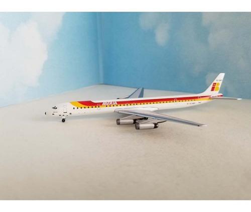 Miniatura Avião Aeroclassics 1:400 Iberia Douglas Dc-8