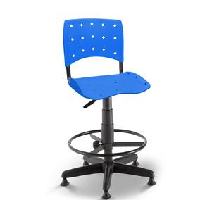 Cadeira Caixa Secretária Balcão Portaria Ergoplax Azul