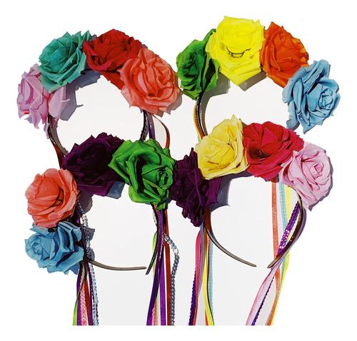 Imagen 1 de 1 de Vincha Flores Día De Los Muertos