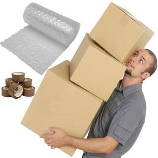 Embalagens Pack Mudança 20 Caixas 2 Fitas E Plástico Bolha