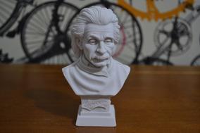 Escultura Bustos Einstein Newton Galileu Po Marmore Italy