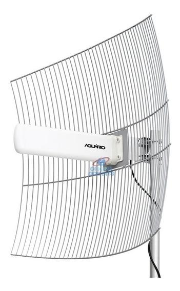 Antena Aquario Cpe 2420 2,4 Ghz 20dbi + Fonte Poe Usadas
