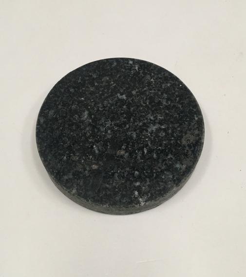 Base Pieza Circular Mármol Granito Negro