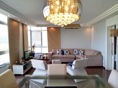 Apartamento Com 3 Dormitórios À Venda, 168 M² Por R$ 670.000,00 - Itararé - São Vicente/sp - Ap4959