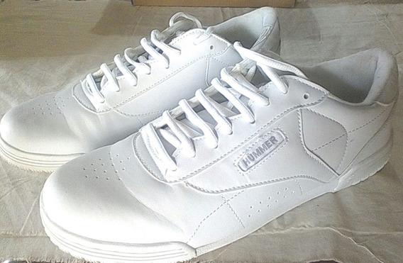 Zapatos Deportivos Blancos. Hummer. Nro 44 (15 Verdes)