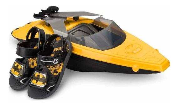 Sandália Batman Boat + Super Barco Gigante