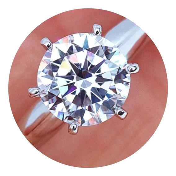 Anillo Boda Compromiso Diamante Cultivado Plata Ley 925/14k