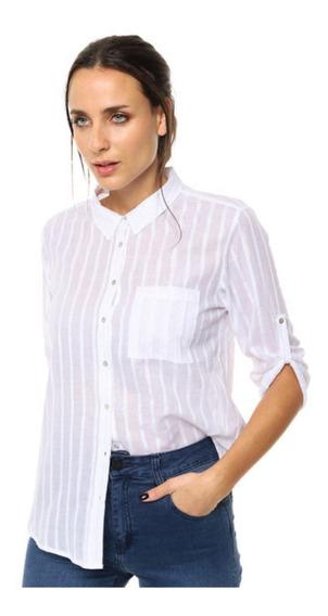 Camisa Blanca De Mujer Ted Bodin